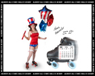 Albany All Stars Roller Derby 2011 Calendar August