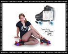 Albany All Stars Roller Derby 2011 Calendar July